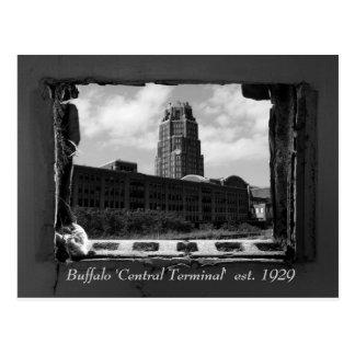 "Búfalo ""terminal central"" est. 1929 postal"