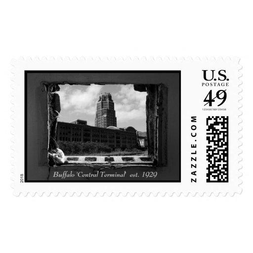 "Búfalo ""terminal central"" est. 1929 timbres postales"