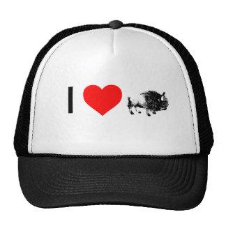 búfalos del corazón i gorros bordados