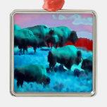 Búfalos Ornamento De Navidad