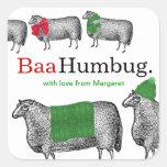 Bufanda de la manta del gorra de las ovejas del pegatinas cuadradases personalizadas
