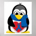 Bufanda del pingüino de Blue Ribbon Posters