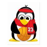 Bufanda del pingüino del baloncesto postal