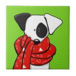 Bufanda roja moderna de Jack Russell Terrier Azulejos Ceramicos