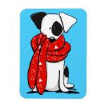 Bufanda roja moderna de Jack Russell Terrier Imanes Flexibles