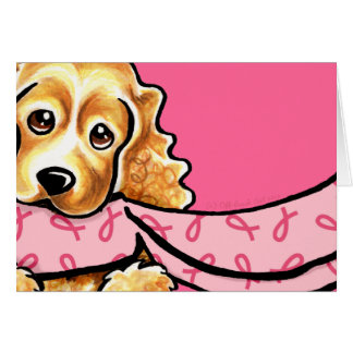 Bufanda rosada BCA de la cinta de cocker spaniel Tarjeta