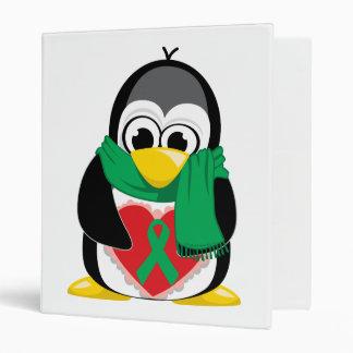"""Bufanda verde del pingüino de la cinta carpeta 1"""""""