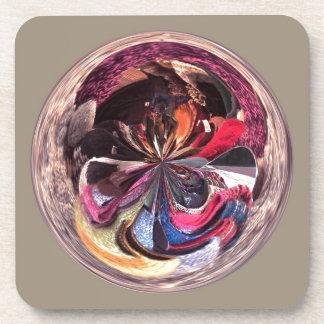 Bufandas en el esférico posavaso