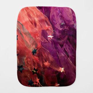 Bufandas rosadas y púrpuras paños de bebé
