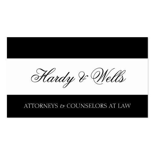 Bufete de abogados B/W - papel con membrete Tarjetas De Visita
