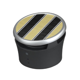 Buff and Black-Striped Bluetooth Speaker