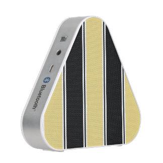 Buff and Black-Striped Bluetooth Speaker