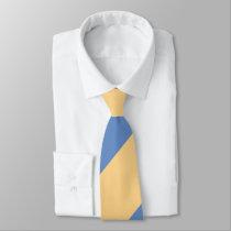 Buff and Sky Blue Broad Regimental Stripe Tie
