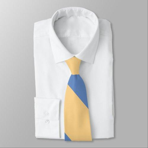 Buff and Sky Blue Broad University Stripe Tie