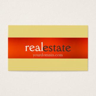 Buff Beige Orange Real Estate Agent Business Card