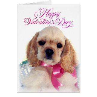 Buff Cocker puppy Cards