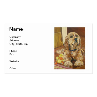 Buff Cocker Spaniel Business Cards