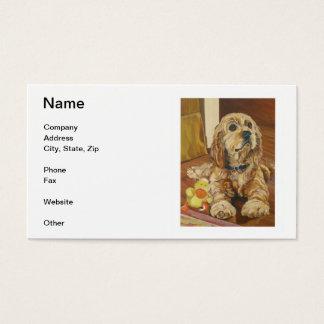 Buff Cocker Spaniel Business Cards
