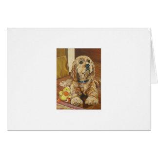 Buff Cocker Spaniel Card