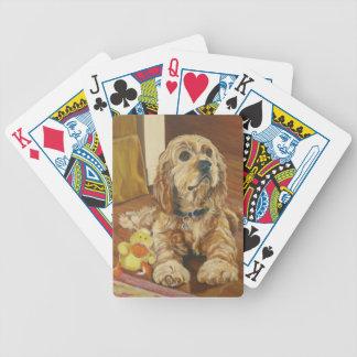 Buff Cocker Spaniel Dog Playing Cards