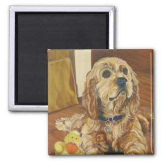 Buff Cocker Spaniel Magnet