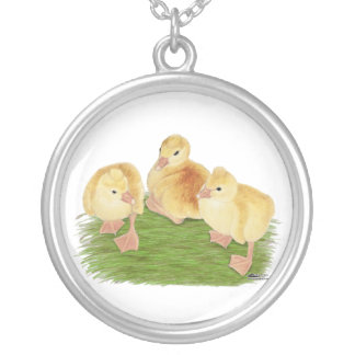 Buff Goslings Tufted Silver Plated Necklace