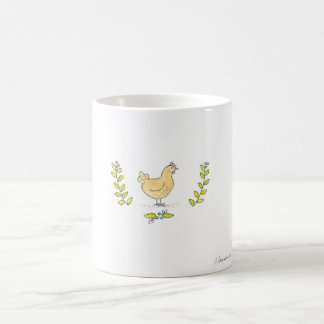 Buff Hen and Branches Mug
