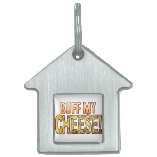 Buff My Blue Cheese Pet Name Tag