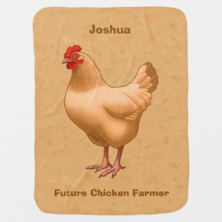 Buff Orpington Chicken Hen Baby Blanket