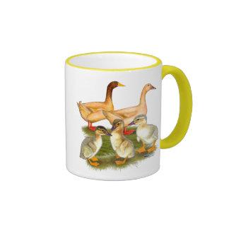 Buff Orpington Duck Family Ringer Mug
