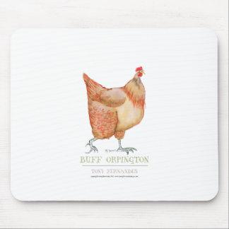 Buff Orpington hen, tony fernandes Mouse Pad