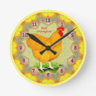 Buff Orpington Rooster Clock