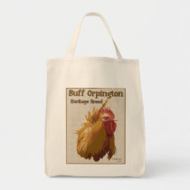 Buff Orpington Rooster image and text Tote Bag