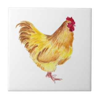 buff orpington rooster painting on items tile
