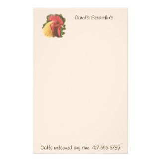 Buff Orpington Rooster Stationery-customize