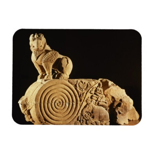 Buff sandstone architrave with griffin, Sanchi, MP Magnet