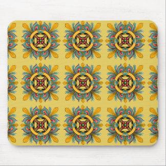 Buff Victorian Tile Design Mouse Pad