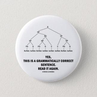 Buffalo (8 Times) Grammatically Correct Sentence Button