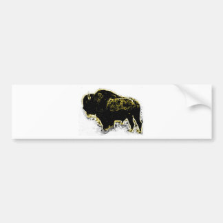 Buffalo Abstract Bumper Stickers