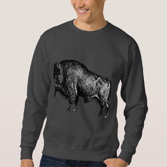 Buffalo American Bison Vintage Wood Engraving Sweatshirt