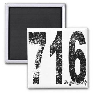 Buffalo Area Code 716 2 Inch Square Magnet
