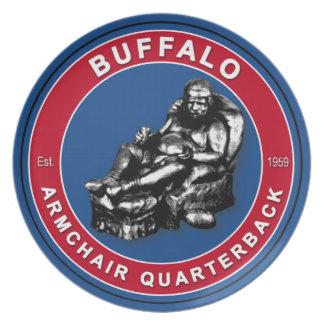 Buffalo Armchair Quarterback Plate