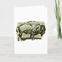 Buffalo Art Holiday Card