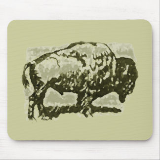 Buffalo Art Mouse Pad