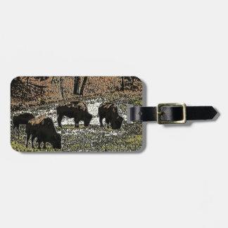 Buffalo Art Wild West Western Theme Bag Tag