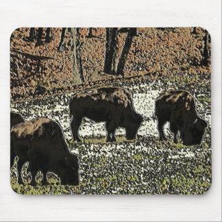 Buffalo Art Wild West Western Theme Mouse Pad