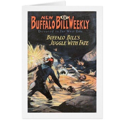 Buffalo Bill 6 semanales - vintage Tarjeta De Felicitación