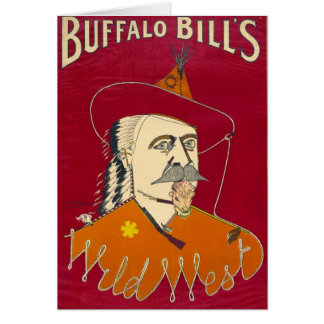 Buffalo Bill Advertisement 1890 Card