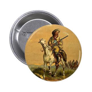 """Buffalo Bill anuncio del vintage """"del explorador"""" Pin Redondo 5 Cm"""