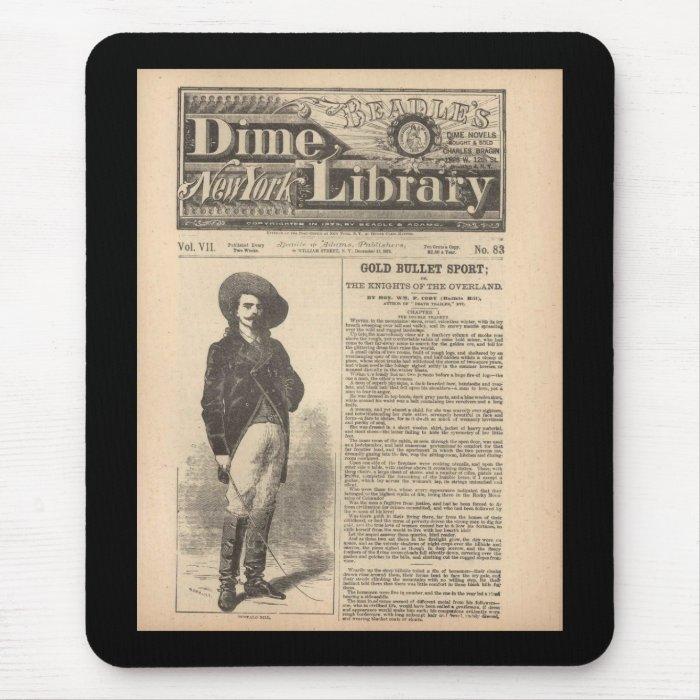Buffalo Bill - Beadle's Half Dime Library 1879 Mouse Pad